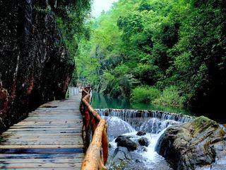 <望谷温泉-流溪河-白水寨瀑布2日游>入住望谷温泉、品荔枝木烧鸡宴