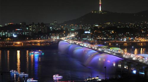 韩国首尔汉江游船