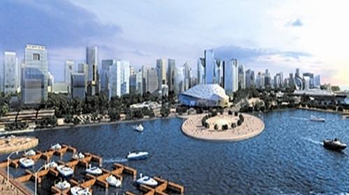 星海广场,是世界最大的城市广场,位于中国大连市,是大连市的城市标志