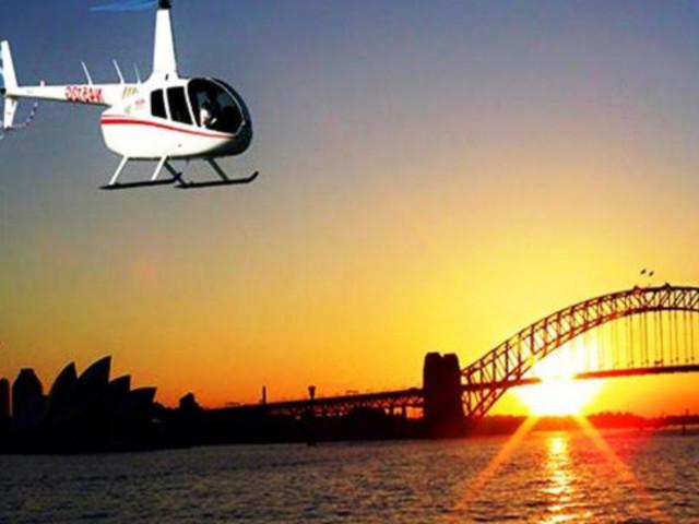 <悉尼海港全景直升机飞行20分钟>(奔驰接送可选)