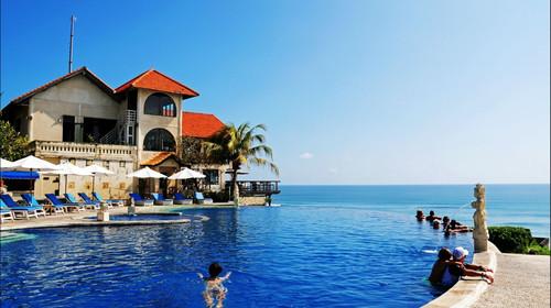 巴厘岛4晚5日游>海边酒店 泳池别墅 梦之船 蓝点 spa