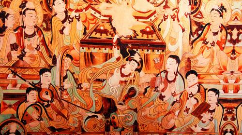 甘新行-敦煌莫高窟壁画图片
