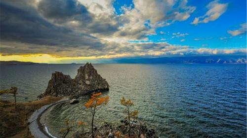 貝加爾湖畔圖片