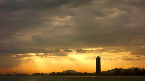 渔歌唱晚-夕阳图片