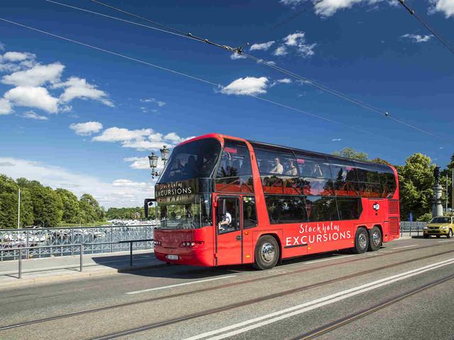 <瑞典 斯德哥尔摩 75分钟全景城市观光巴士 无停车一站式观光>(含中文语音导览)