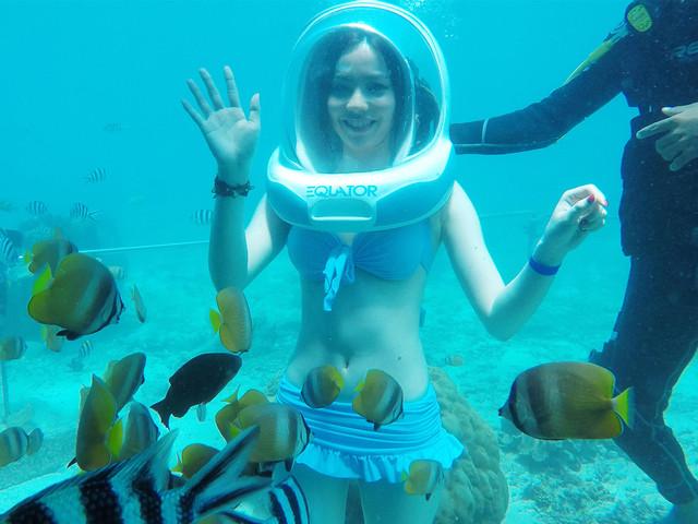 【当地玩乐】<巴厘岛蓝梦岛一日游>含海底漫步+巧克力SPA2小时+水上发呆亭餐厅特色印尼?#36884;?#24215;接送