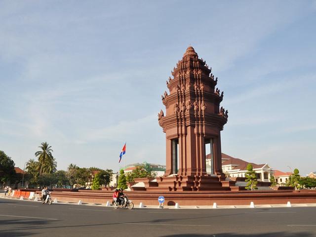 柬埔寨地标手绘