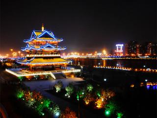 龙城太原夜景图片
