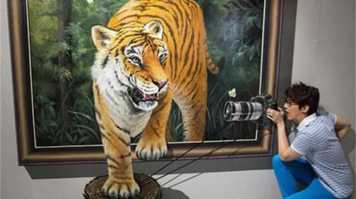 3d动物墙体彩绘图片