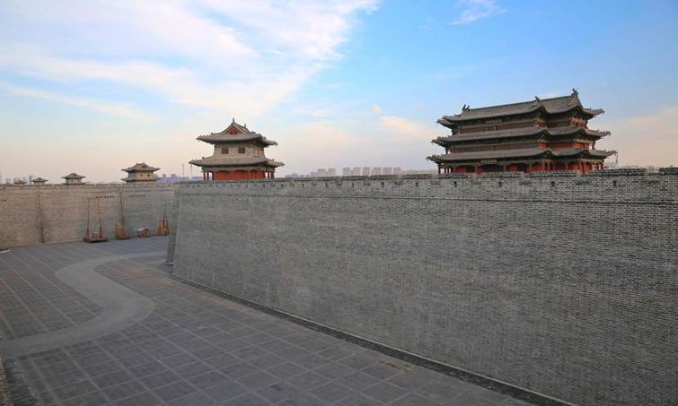 彩铅手绘城墙风景