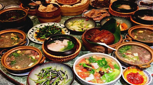 杭州美食小吃手绘地图