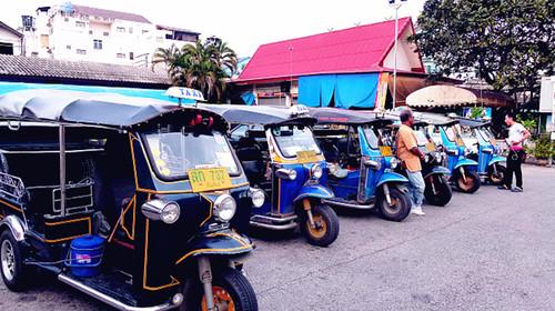 泰国嘟嘟车手绘