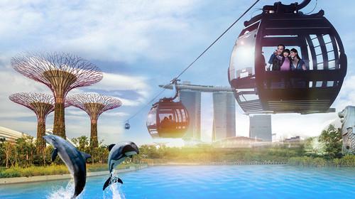 圣淘沙岛,环球影城,sea海洋馆,鱼尾狮公园,新加坡植物园