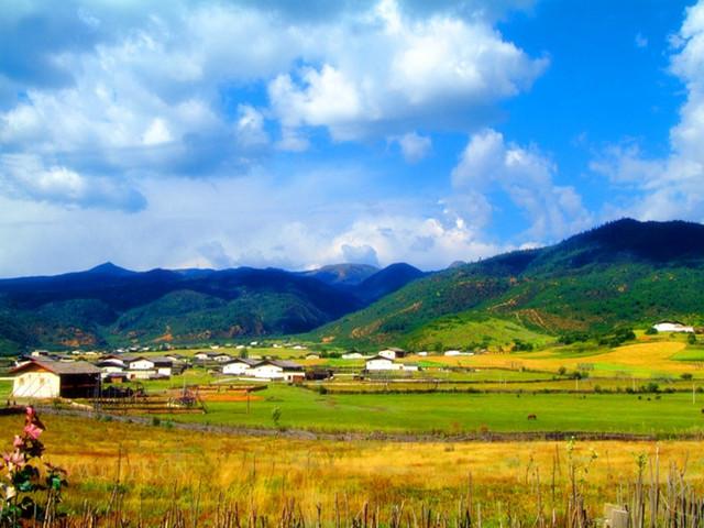 香格里拉途中风景