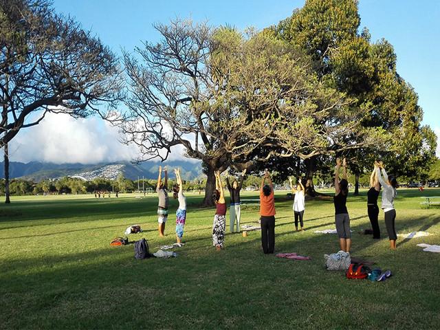 【户外瑜伽+矿泉水】夏威夷大师Das半日瑜伽授课之旅