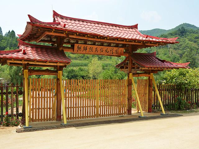 到朝鲜族人家坐大坑上坐一坐,品大麦茶,了解朝鲜族文化,风情浓郁的图片