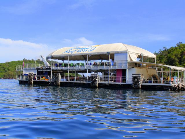 <大堡礁浮台+沙比岛+香格里拉丹绒亚路日落下午茶>大堡礁浮台+沙比岛+日落下午茶