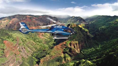 【50分钟空中游览】 夏威夷可爱岛直升机之旅>(eco sta机型)