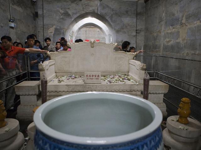 定陵博物馆是中国陵墓博物馆.位于北京市昌平县北10公里的大峪山下.