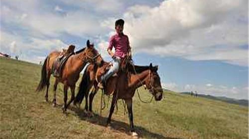 跟牧民学骑马