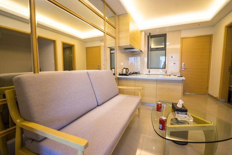 一室一廳的公寓,還帶廚房,裝修幾乎是全新