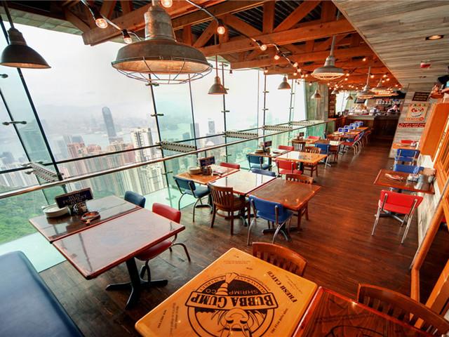 【当地玩乐】<香港美食:阿甘虾 太平山顶凌霄阁美式餐厅>到港必尝【短信电子票】