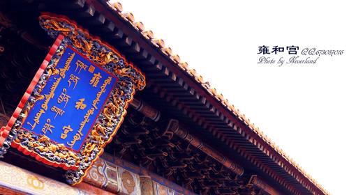 """阁里的白檀木雕弥勒佛像,照佛楼里的金丝楠木佛龛被誉为雍和宫""""三绝"""""""