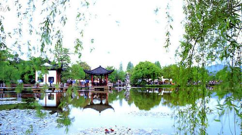 游览花港观鱼,苏堤春晓,柳浪闻莺,西湖,是一首诗,一幅天然图画,一个