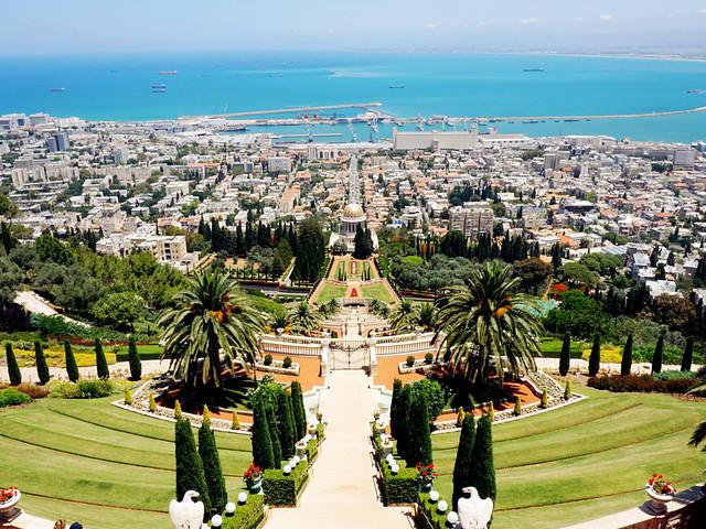 景点 · 巴哈伊花园(bahai gardens),被称作空中图片