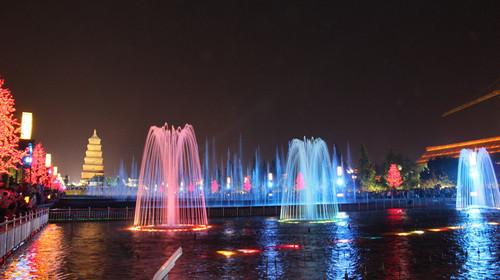 大雁塔北广场喷泉的开放时间