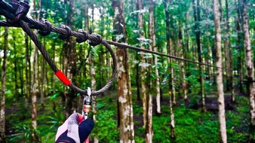 文莱-巴厘岛5晚6日游>亲子两国联游 巴厘岛树顶冒险公园 冒险线路