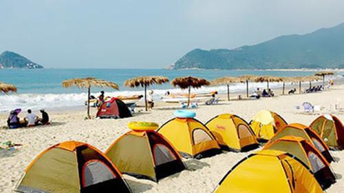 视天气情况而定),开启我们的海边自由度假项目,体验自行收支帐篷的