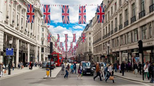 伦敦街头简笔画