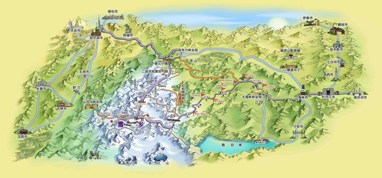 约105公里,海林市-雪乡 约158公里, 牡丹江-雪乡 约180公里,亚布力图片
