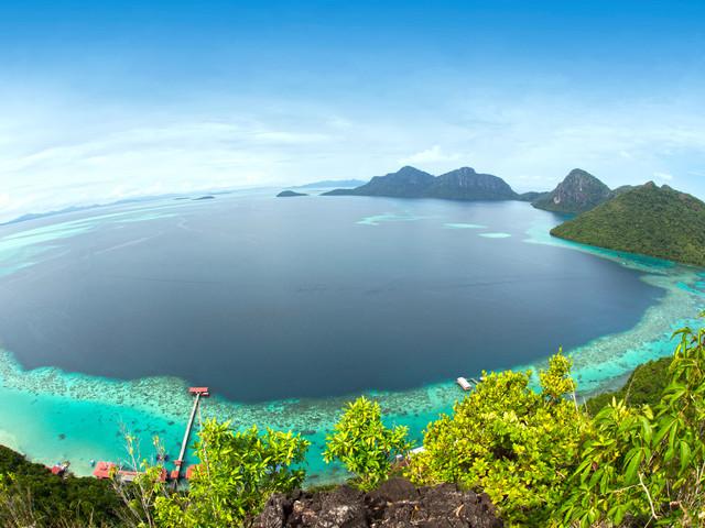 <仙本那敦沙卡兰海洋公园风情一日游半日游 马来西亚沙巴旅游>(自家的船只+赠水下拍照+打卡海洋公园全景+多名船员护航+中文导游)