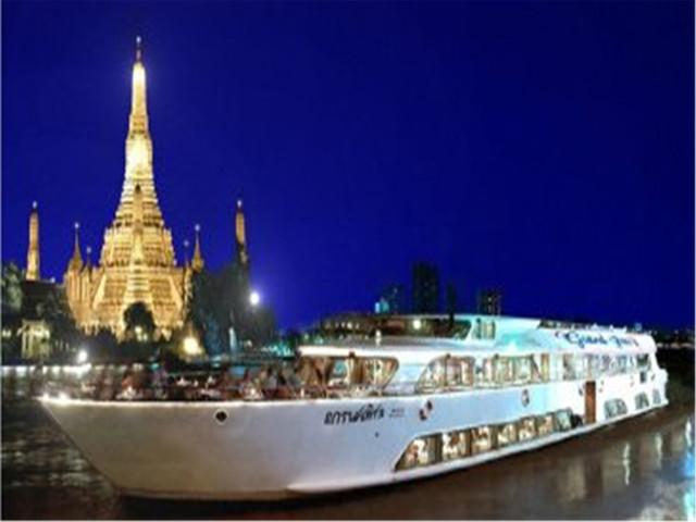 【人气推荐,高性价比】<曼谷·大珍珠号夜游湄南河船票+自助餐游>(可选接送)