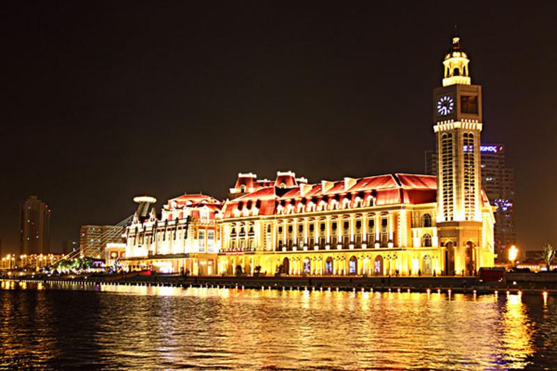 从津湾广场到天津古文化街线路图 从津湾广场到天津古文化街地图 从图片