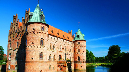 手绘北欧图片城堡