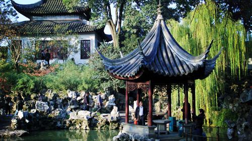 苏州园林-拙政园-狮子林-周庄古镇1日游>游双园 走中国第一水乡