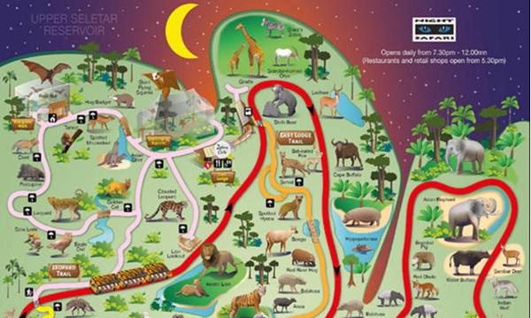 新加坡夜间动物园ulu ulu safari餐厅自助餐>