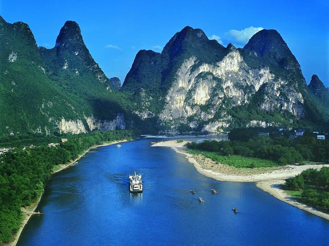 桂林-漓江-十里画廊1日游>体验船行碧波上,人在画中游的山水画卷