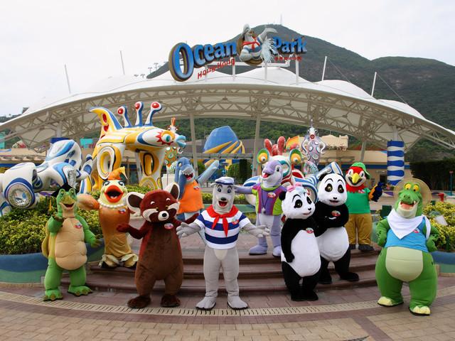 【超值套票】<香港 海洋公园门票(含园内缆车)+市区去程巴士一日游>可选餐劵