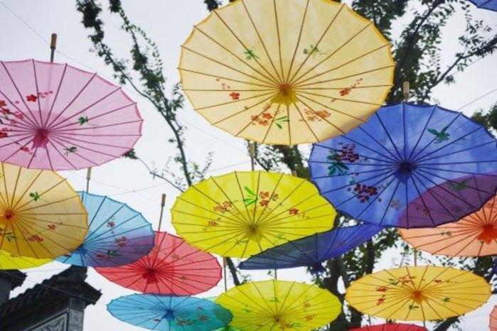 雨伞简笔画 小动物