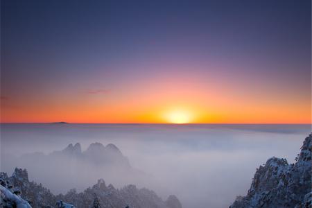 <黄山2日游>黄山风景区参团,宿山上含早餐,观日出,赏日落,做山中神仙