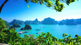 Karst landforms in the sea, the world natural heritage - halong bay
