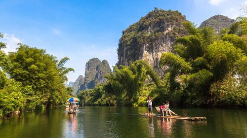桂林穿山公园日落景观
