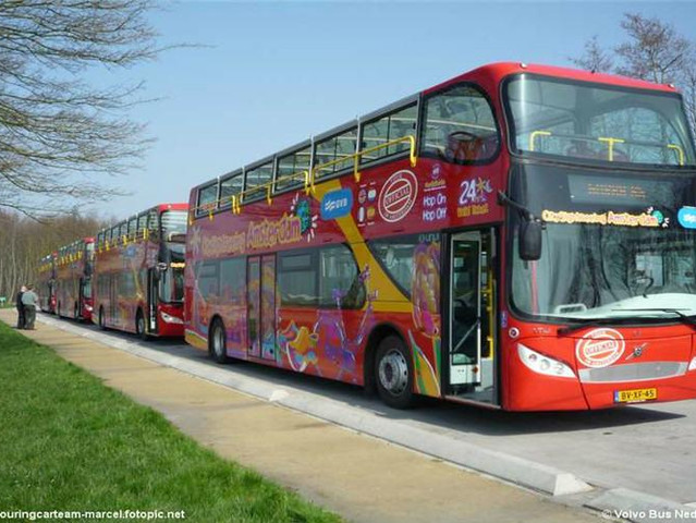 <阿姆斯特丹  24小时随上随下观光巴士+8选1景点门票>