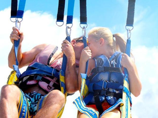 <黄金海岸水上滑翔伞刺激体验>