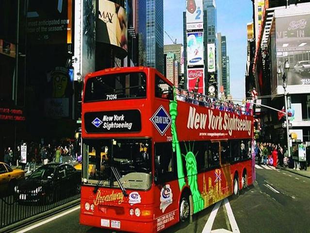 <纽约随上随下巴士观光>