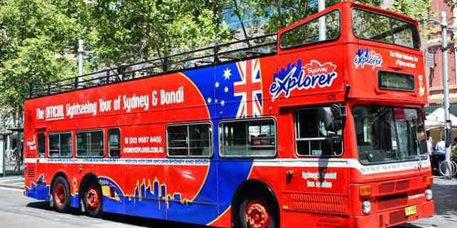 <悉尼观光巴士24小时随上随下通票>(悉尼市区+邦迪海滩)